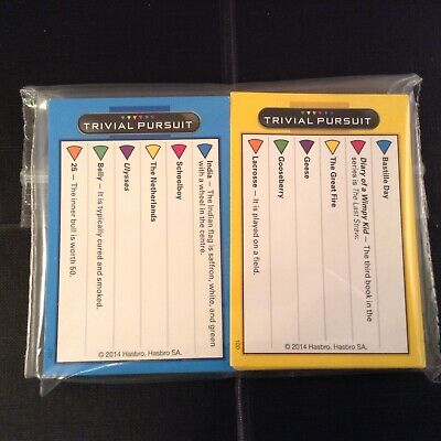 Trivial Pursuit Family Edition - 100 Cards - 50 Adults / 50 Kids - Free P&P