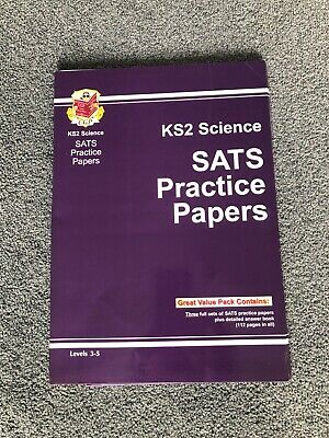 Cgp Key Stage 2 Sats Science Practice Papers - 3 Full Sets Plus Answer Book