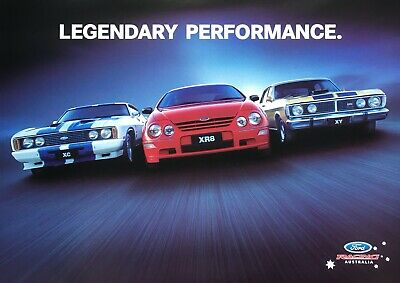 Ford Falcon AU XR8 XY GTHO and XC Cobra Poster See also XR Brochure listed