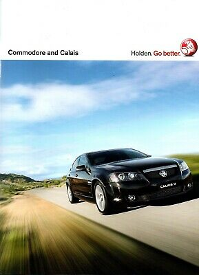 Holden Commodore VE Sales Brochure with V8 SS SSV and Calais