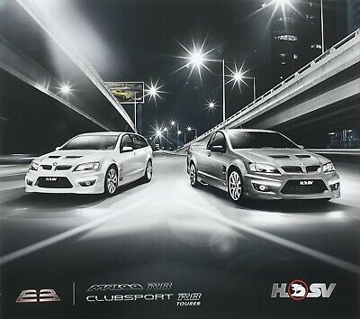 Holden HSV Maloo and Clubsport R8 E3 Sales Brochure