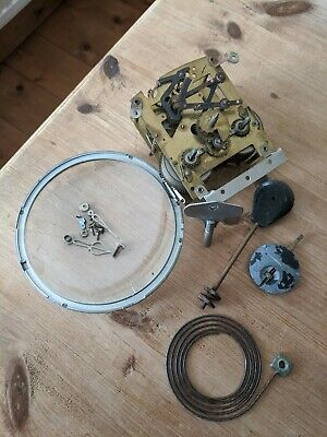 Smiths Enfield 1949 Movement Key Chime Clock Glass Spares Repairs