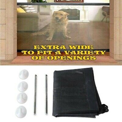 Retractable Pet Dog Safety Guard Folding Baby Toddler Stair Gate Isolation
