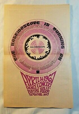 Canned heat 1967 poster Grateful dead Kaleidoscope club Jefferson airplane