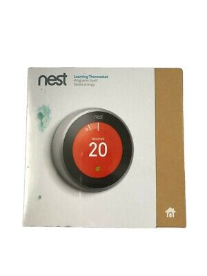Nest 3rd Generation Learning Stainless Steel Programmable Thermostat T3010GB