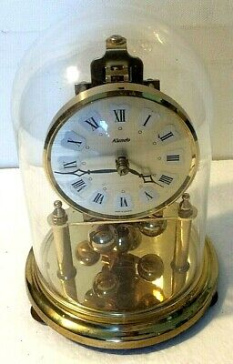 Kundo Mechanical Wind Up Anniversary Clock with Dome Cover.