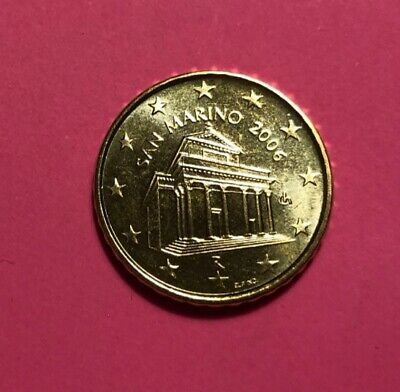 ### Original TOP 10 Euro Cent San Marino 2006 aus KMS in Stempelglanz ###
