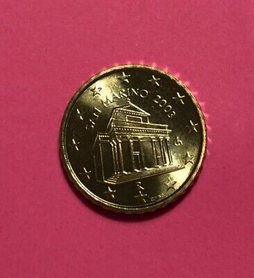 ### Original TOP 10 Euro Cent San Marino 2003 aus KMS in Stempelglanz ###