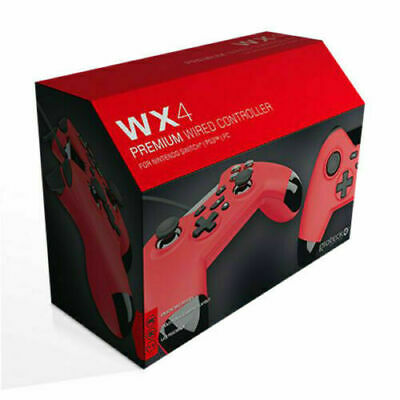 Gioteck WX-4 Wired Controller Red for Nintendo Switch & PC NEW & SEALED