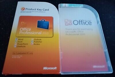 Microsoft Office PROFESSIONAL 2010 Product KEY CARD Including Outlook 2010