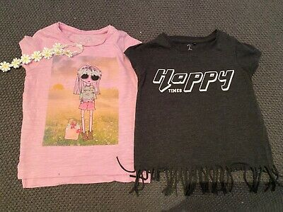 Tshirt Bundle age 5 x 2 Next Mothercare matching headband