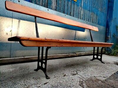 Victorian antique church pew bench 7ft
