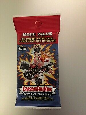 2017 GARBAGE PAIL KIDS BATTLE OF THE BANDS Fools Gold Parallel /50 HOT PACK