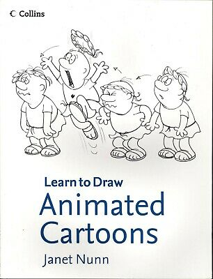 ART BOOK - LEARN TO DRAW ANIMATED CARTOONS By Janet Nunn