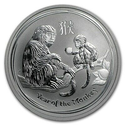 2016 Australia Perth Mint 1/2 oz Year of the Monkey .999 Silver! New In Capsule!
