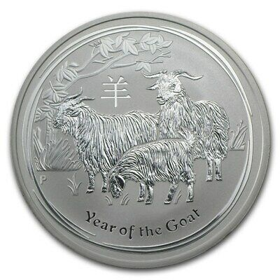 2015 Australia Perth Mint 1 oz Year of the Goat .999 Silver! New In Capsule!