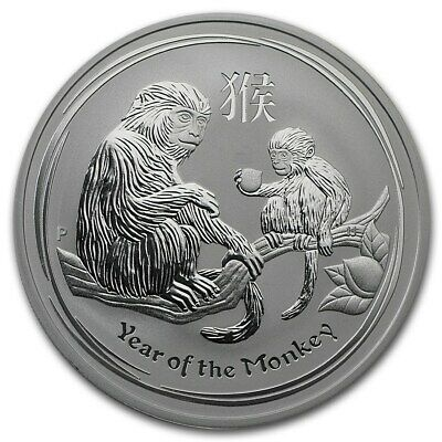 2016 Australia Perth Mint 1 oz Year of the Monkey .999 Silver! New In Capsule!