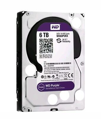 "Western Digital Purple 6TB Internal 3.5"" Hard Drive -WD60PURX"