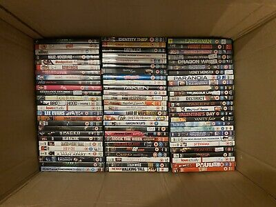 182x Random Used Dvds / Boxsets Bundle Joblot Wholesale Horror Comedy Action