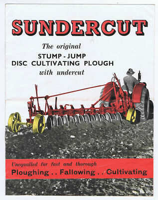 Original 1954 HV McKay Sunshine Sundercut Stump Jump Plough Sales Brochure