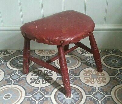 Childs Vintage Antique Milking Stool, Footstool, Rustic, Primitive,Bedside Table