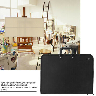 Black Portable PVC Painting Board Bag Shoulder Carry Case A3 Drawing Easel Bag