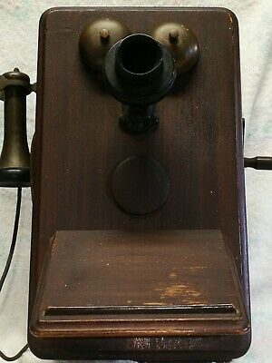 Vintage 1930's 1940's British Ericsson Wall Mount Phone Australian Telephone