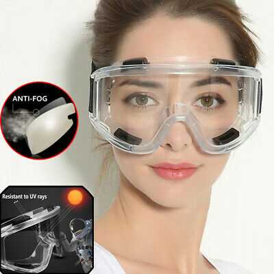 Clear Safety Glasses Eye Protection Goggles UV400 Anti-fog Work Lab Protective +