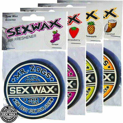 4 x Sex Wax Air Fresheners Grape Coconut Strawberry Pineapple Scent Supplied