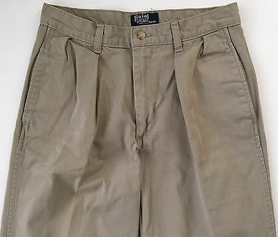 Ralph Lauren Mens Boys Polo Chino Khaki Flat Front Classic Fit Pants 29 x 31