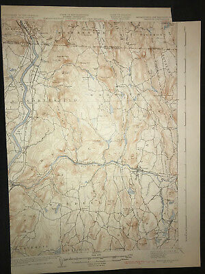 Vintage 1935 USGS Topographical Map of Warwick Massachusetts MA NH VT - Unfolded