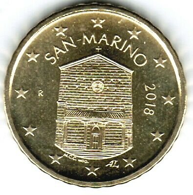 10 Euro Cent San Marino 2018 Kursmünze lose aus KMS / from original coin set
