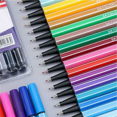 Watercolor Drawing Painting Brush Pen Dual Tip Stationery School Arts Supplies