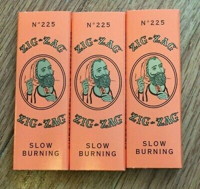 3X Zig Zag Rolling Papers 1 1/4 Size Cigarette 32 Leaves Per Book 3 Packs Orange