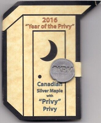 """1 oz .999 Silver Round Canadian Maple Leaf """"Year of the Privy"""" #52 0f 200 Made"""