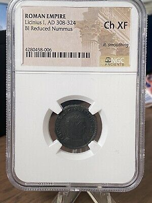 308-324 Ad Licinius I Ae Reduced Nummus..ngc Graded Choice Xf!!  Nice Coin!