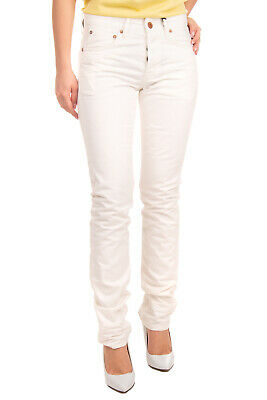RRP €245 J BRAND Jeans Size 29 White High Waist Button Fly Slim Fit