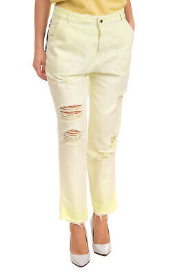 RRP €115 TWIN-SET JEANS Trousers Size 26 Faded Effect Ripped Frayed Cuffs