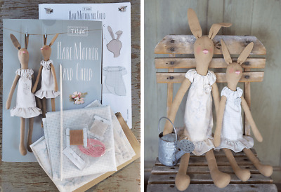 Tilda Hare Mother And Child Kit Teddys