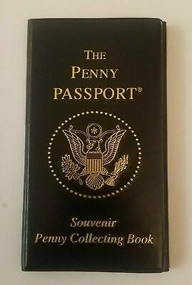 THE PENNY PASSPORT Collector Souvenir Coin Elongated Pressed Penny Book