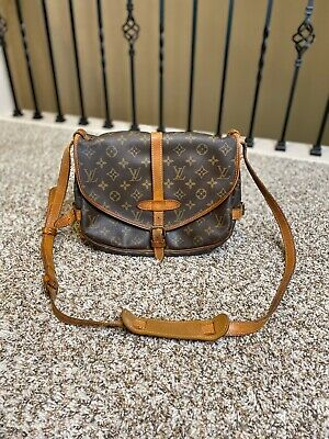 Authentic Louis Vuitton Monogram Saumur 30 Crossbody Purse Saddle Bag