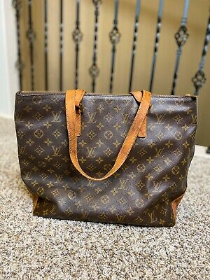 Authentic Louis Vuitton Cabas Mezzo Monogram Canvas Tote Bag Classic Vintage