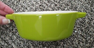 Oval Individual Baker Casserole Dish Chartreuse Green 2 Cup Oval handles