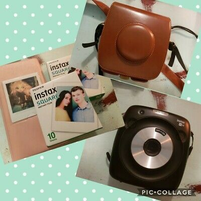 Fujifilm Instax Square SQ10 Hybrid Camera with case, charger, photo album, film