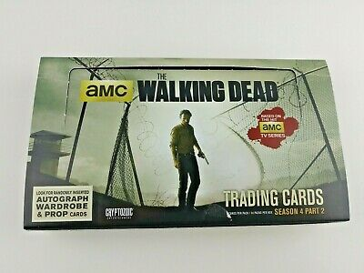 The Walking Dead Season 4 Part 2 (300)Trading cards Hobby Box  Opened COMMONS
