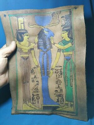 Leather. Pharaonic is very rare, the ancient civilization of Egypt.  1