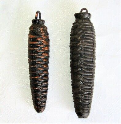 "Cast Iron Pine Cone Cuckoo Clock Weights, 4.5"" to 5"", Lot #39-1"
