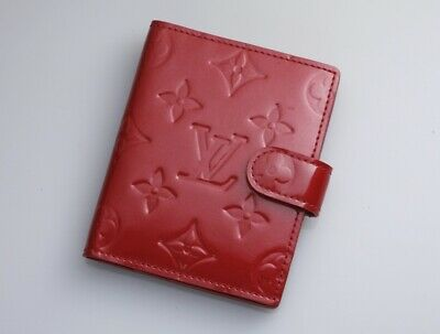 H6138M Authentic Louis Vuitton Vernis Agenda Notebook Cover Mini *Outer Good