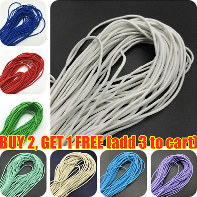US 3mm 10m Nylon Elastic Band Round Rubber Sewing Rope DIY Line Fabric Apparel