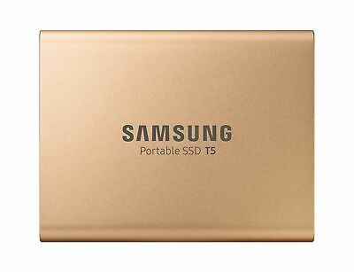 Samsung T5 Gold 500GB 540MB/s USB-C Portable SSD Laptop Solid State Drive